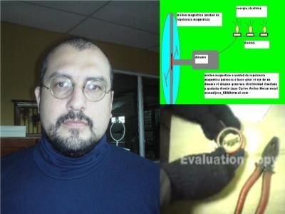 Juan Carlos Aviles Moran creador y diseñador de la unidad de repelencia magnetica